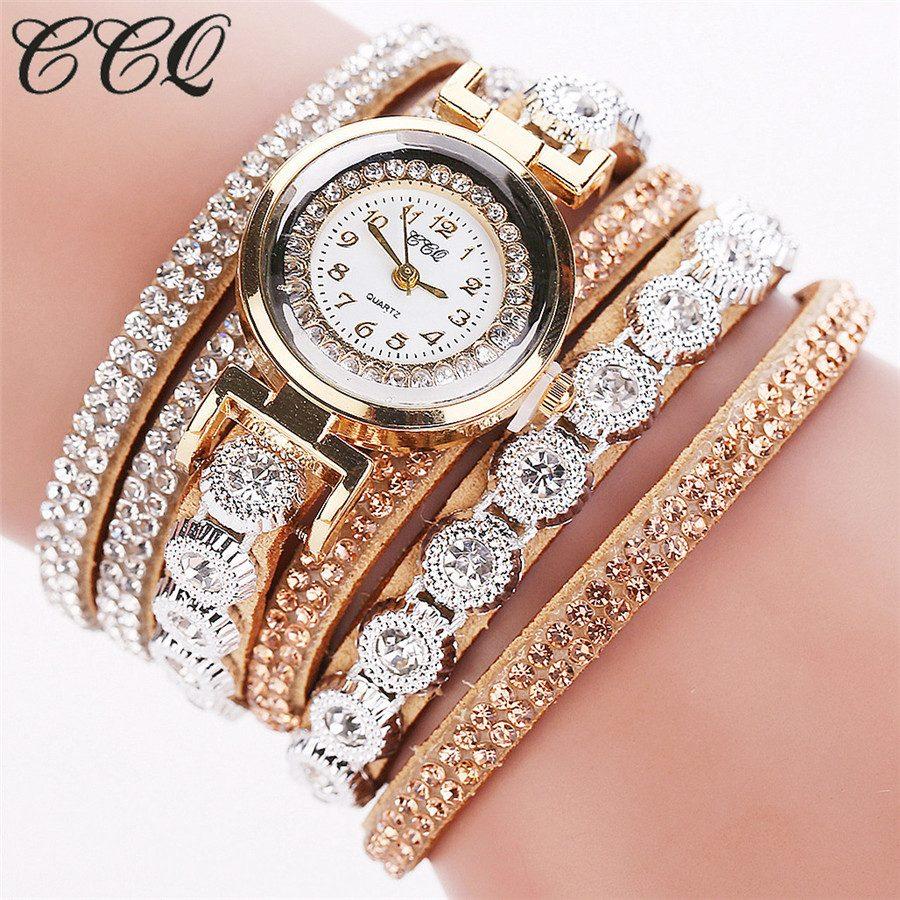 Luxury Rhinestone Bracelet Watch