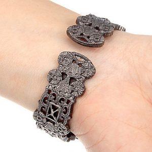 Vintage Flowers Bracelet Watch