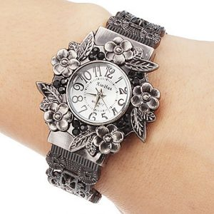 Vintage Flowers Bracelet Watch