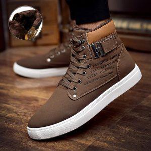 cotton ankle boots