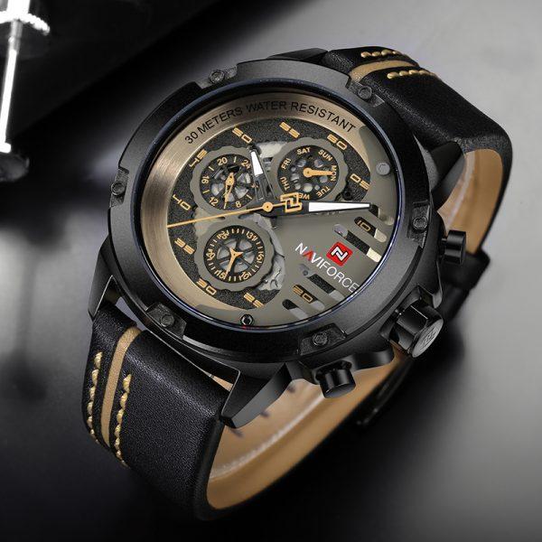 Leather Sport Wrist Watch