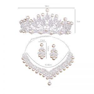 Necklace Earrings Women Wedding Jewelry Set