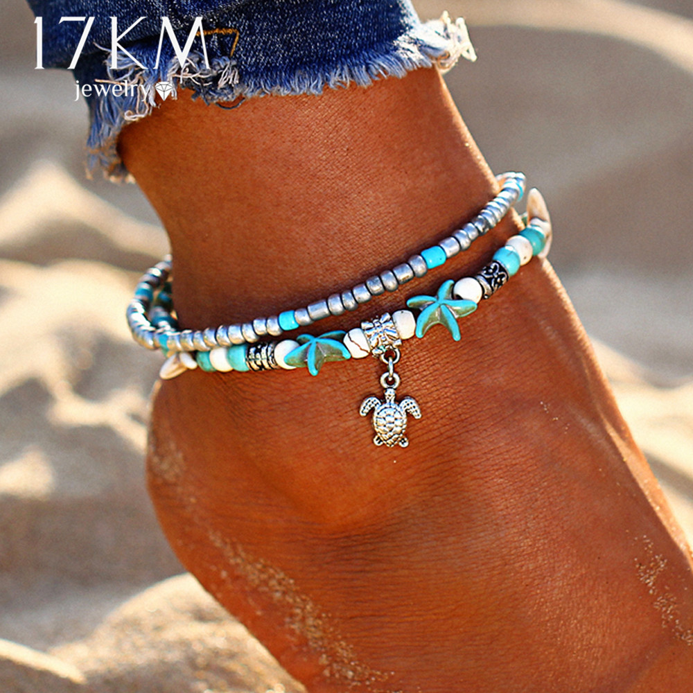 item bracelet flower ankle jewelry double anklets summer cz wholesale for foot pierced style beads leg chain