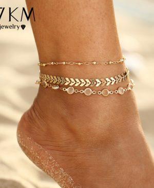 Crystal Sequins Anklet