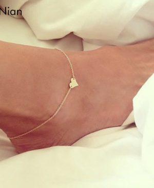 Heart Female Anklets