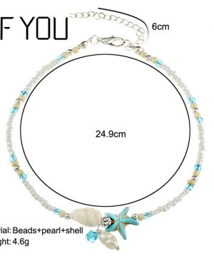 Bead Shell Anklet