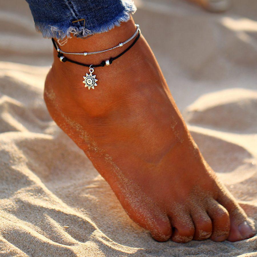 Sun Pendent Anklet