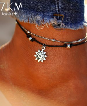 Sun Pendent Anklet