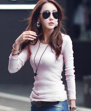 Women Shiny T-shirts
