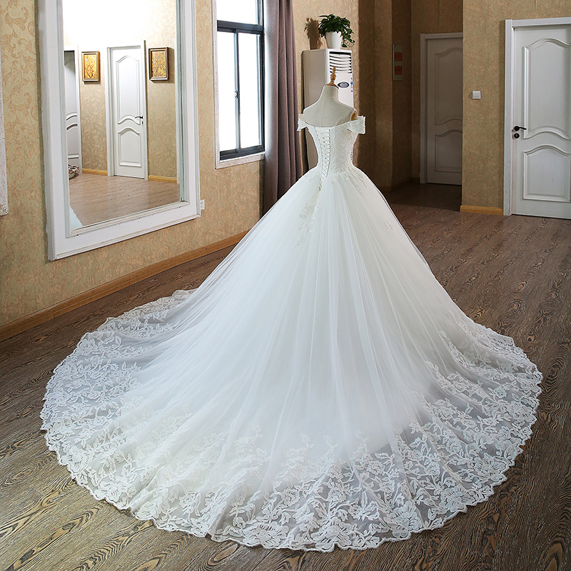 Ball Gown Bridal Dresses Muslim Lace Wedding Dress - Lalbug.com