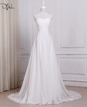 Chiffon Beach Wedding Dresses