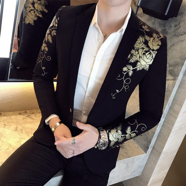 Gold Black Blazer