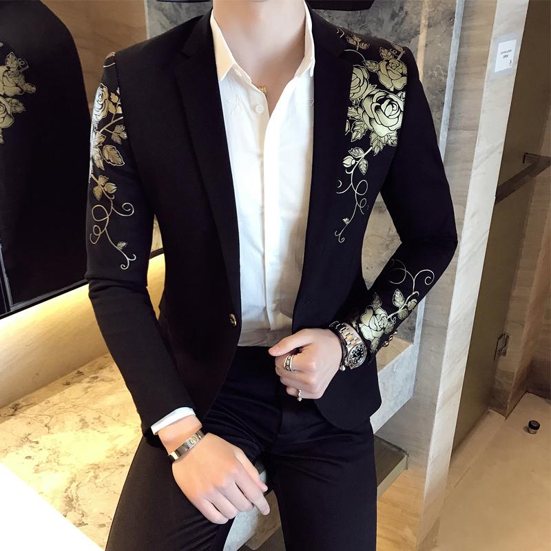 Gold Black Blazer