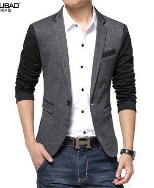 Patchwork Slim Suit