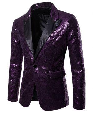 Glitter Embellished Blazer