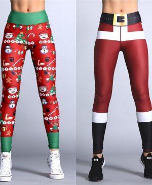 Christmas Printing Leggings