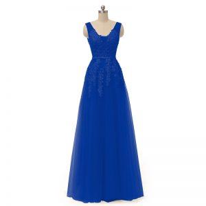 A-line Prom Dresses Long Appliques Prom Dress