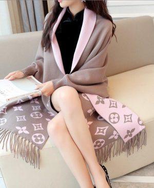 Elegant Tassel Wrap Swing Cardigan Knitted Sweater