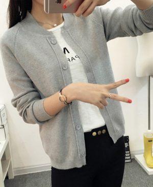 Knit Cardigan Sweater Coat Shawl Knitted Jacket