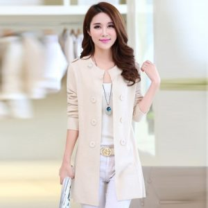 Women Sweater Cardigans Casual Knitted Coat