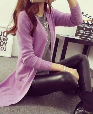 Women Cashmere Cardigan Poncho Loose Coat