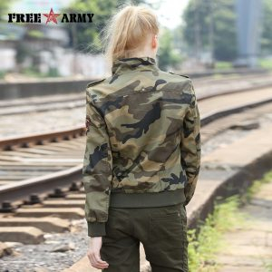 Military Jackets Women Camouflage Jacket Coat