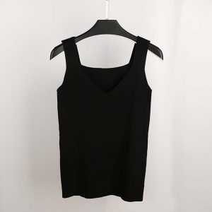Sexy Crop Top Knitted Tank Tops Women Blouse