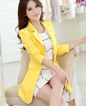 Elegant Women Blazers Causal Slim Ladies Suits