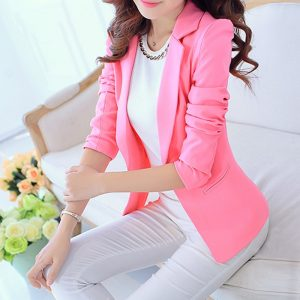 Ladies Blazer Long Sleeve Blaser Women Suit jacket