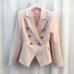 Baroque Designer Jacket Double Breasted Blazer