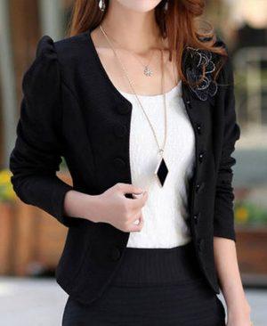 Women Fashion Blazer Long Sleeved Bleiser
