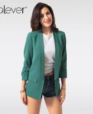 Women Blazers Jacket Casual Slim Blazer Coat
