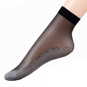 Velvet Silk Women Socks Slip-resistant Sock