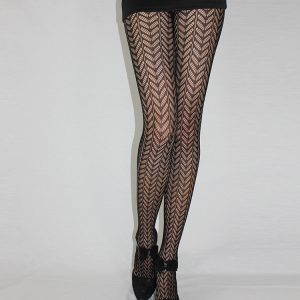 Black Sexy Fishnet Pattern Jacquard Stockings Pantyhose