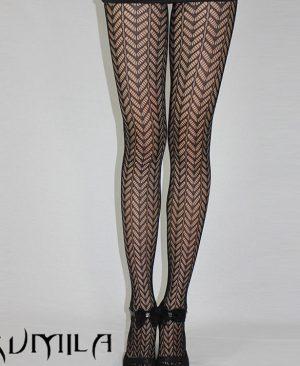 Black Sexy Fishnet Pattern Jacquard Stockings Pantyhose
