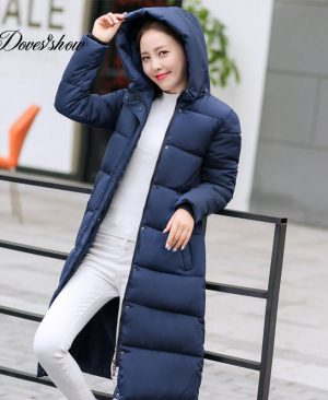 Winter Down Coat Jacket Cotton Padded Parkas