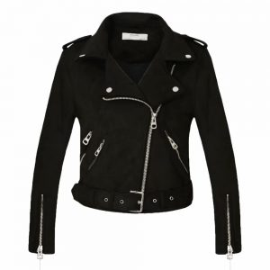 Suede Faux Leather Jackets Motorcycle Coat
