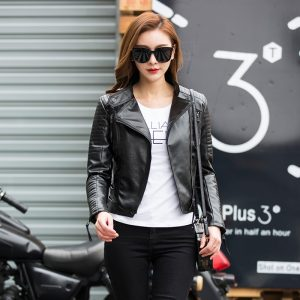Punk Leather Jacket Soft PU Faux Leather Coats
