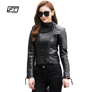 Punk Leather Jacket Soft PU Faux Leather Coats