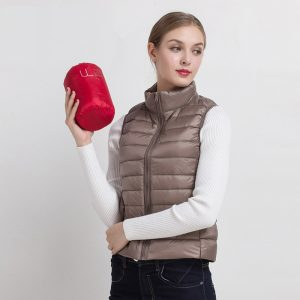 Duck Down Vest Female Slim Sleeveless Jacket