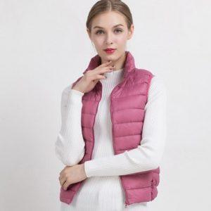Duck Down Vest Female Slim Sleeveless Jacket