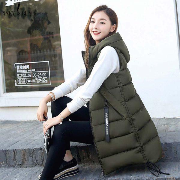 Women Waistcoat Sleeveless Vest Jacket