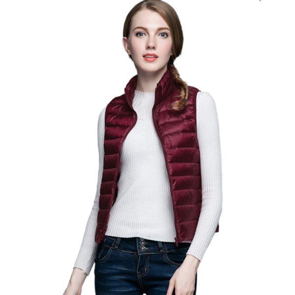 Ultra Light Duck Down Vest Jacket Sleeveless Coat