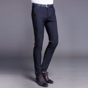 Cotton Men Pants Business Casual Trousers