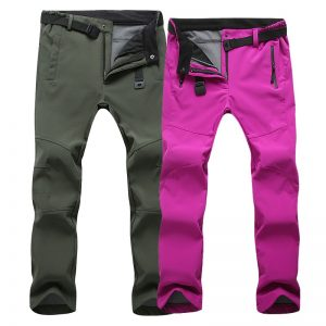 Casual Stretch Pants Warm Windproof Trousers