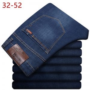 Men Classic Straight Baggy Jeans Denim Pants