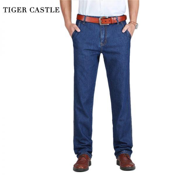 Summer Men Jeans Slight Classic Denim Pants