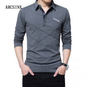 Polo Shirt Men Winter Casual Male Shirt
