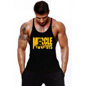 Cotton Gyms Tank Tops Men Sleeveless Vest