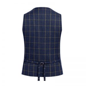 Man Fashion Suit Vest Male Plaid Suit Waistcoat